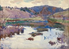 Highland Lake with Marshes, Frank Benson, 1923