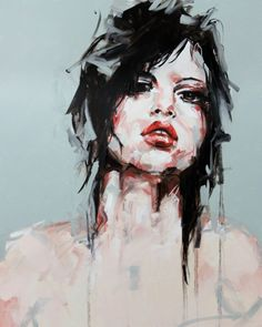 Available for sale, £200. Blue Lights, Paul Bennett. Figurative. Limited edition print. Portraits look stunning framed and hung in any hallway or living room.