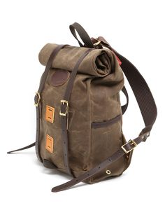 Jigen tumblr | Wax canvas roll-top backpack