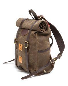 Jigen tumblr | Wax canvas roll-top backpack