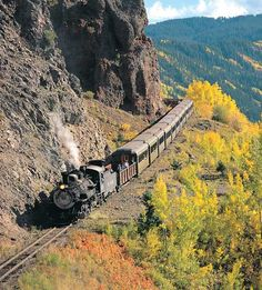 Cumbres and Toltec RR-- highest and longest coal fired, steam operated, narrow gauge railroad in the US. A spectacular trip if you're ever in New Mexico/Colorado.