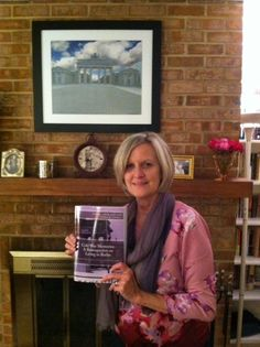 Deb got her copy! Deb has 3 stories in the book! And check out the cool photo over her fireplace by fellow photographer Berlin Brat Bryan Duckett. #ImIntheBook www.createspace.com/4863523