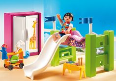Children´s Room with Loft Bed and Slide - 5579 - PLAYMOBIL® USA