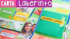 CARTA LABERINTO: Regalo original para amiga o novio (Fácil) ✄ Craftingeek Labyrinth, Spiel, Papier, Gebasteltes
