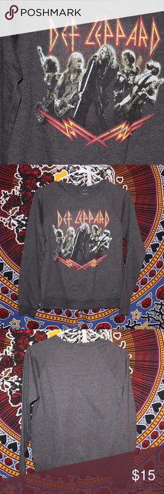 90375d8b0f53 Def Leppard Band Tee Sweater Great condition! Bravado Tops Sweatshirts &  Hoodies. Christian Baron · Travis Scott