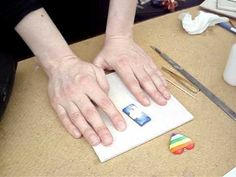 Polymer Clay Tutorial: How to use Donna Kato Liquid Polyclay to Finish your Jewelry #Polymer #Clay #Tutorial