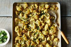 Roasted Cauliflower with Cumin and Cilantro recipe: Brings out its natural sweetness. #food52