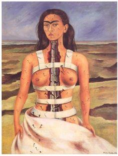 """Фрида Кало """"Сломанная колонна"""". 1944"""