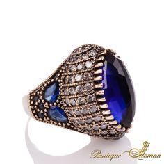 #jewelry Seyyare Sapphire Silver Authentic Ottoman Ring  #jewelry #ottoman
