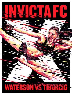"""artwork of """"Karate Hottie"""" Michelle Waterson : if you love #MMA, you'll love the #UFC & #MixedMartialArts inspired fashion at CageCult: http://cagecult.com/mma"""