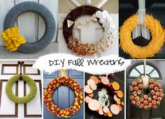 DIY Fall Wreaths {Round-up}