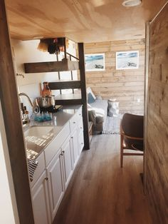 The 300-square-foot Surf Shack tiny house was designed by Alex Wyndham and featured on Season 3, Episode 5 of Tiny House Nation.