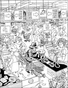 Quino Pure Fun, Humor Grafico, Fun Comics, Political Cartoons, Satire, Coloring Sheets, Drawing Reference, Cartoon Art, Vignettes