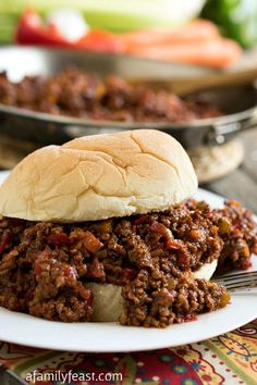 Smoky Joe - A delicious twist on a classic Sloppy Joe sandwich - but with the wonderful addition of smoked paprika!  Hearty comfort food at it's best!