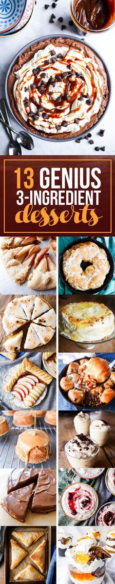 Not ready to make these just yet? Pin it for later! And, if you make one of these recipes, make sure to Instagram it and tag it #BuzzFeast. Happy Dessert-ing! | 13 Genius Three-Ingredient Desserts To Make For Thanksgiving