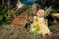 Baby Yellow Fairy Costume size 612 month girl by FairyPhotography