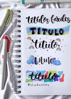 Bullet Journal Paper, Bullet Journal Lettering Ideas, Bullet Journal Notebook, Bullet Journal School, Bullet Journal Ideas Pages, Bullet Journal Inspiration, School Organization Notes, School Notes, Hand Lettering Tutorial