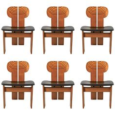 Africa Chairs from Artona Collection by Afra and Tobia Scarpa for Maxalto ca.1975