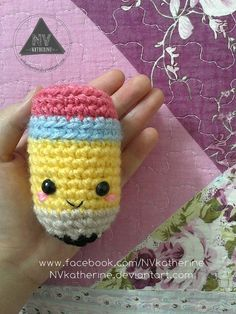 Amigurumi Pencil - FREE Crochet Pattern / Tutorial
