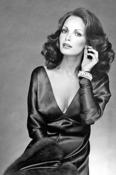 Jaclyn Smith - 1970's.  Classic beauty & gorgeous hair.  Another actress who should have been born earlier, and doing movies in the 40's & 50's.