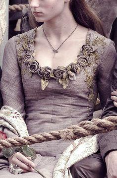 Sansa's lovely tourney dress.