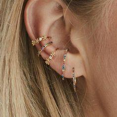 This radiant duo 🌈 Kris & Kenny - jewel - Schmuck - Ear Piercing Ear Piercings Chart, Piercing Chart, Cute Ear Piercings, Mouth Piercings, Bellybutton Piercings, Ear Peircings, Ear Jewelry, Cute Jewelry, Jewelery