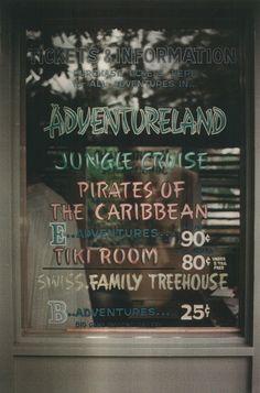 Disneyland Adventureland Ticket Window, 1970s