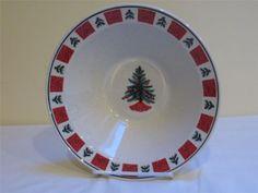 Folk Craft Holiday Christmas Xmas Tree 1 Serving Bowl Stoneware