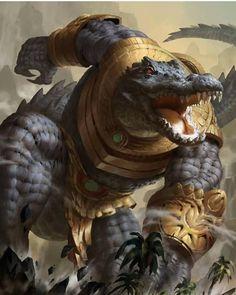 Egyptian Gods and Mythology Fantasy Races, Fantasy Warrior, Mythological Creatures, Mythical Creatures, Fantasy Beasts, Creature Concept, Monster Art, Egyptian Art, Fantasy Artwork