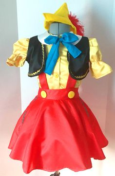 Disney Costumes Girly Pinocchio Costume Pinocchio Costume by kikisthings on Etsy - Running Costumes, Girl Costumes, Adult Costumes, Dance Costumes, Cosplay Costumes, Pinocchio, Disneyland Costumes, Disney Halloween Costumes, Disney Costumes For Kids