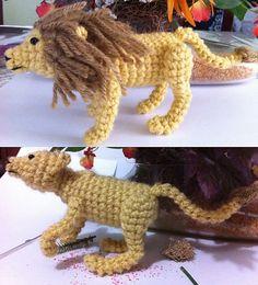 Ravelry: Little Lion and Lioness Amigurumi pattern by Amanda Girão