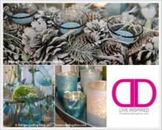 Christmas Color Scheme: Decorating with Pale Blue and Silvery White | The Decorating Diva, LLC