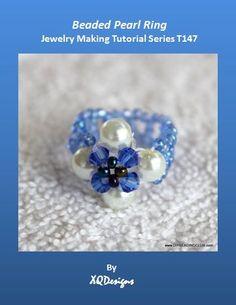 DIY Beaded Pearl Ring Tutorial