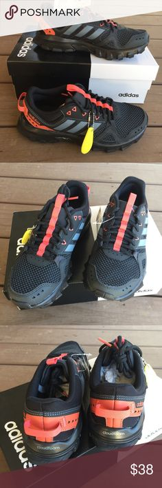 ba6ebb7e21371 NWT Adidas Rockadia Trail Black Running Shoes