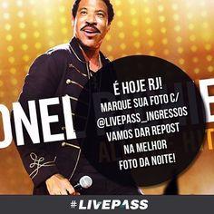 É hoje Rio de Janeiro!  #LionelRichie para embalar a sua terça ❤️❤️❤️! Marque a sua foto conosco (@livepass_ingressos) que no final da noite iremos escolher a melhor foto para publicar em nossa página! Bom show #riodejaneiro! Com #moveconcertsbrasil ❤️ #livepass