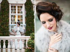 blue wedding dress, grey fur wrap, rent the runway, la caille, utah wedding photographer, utah bridal photography, opiefoto, winter bride, winter bridals