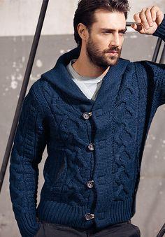 maglione uomo 2012, collo scialle Bramante