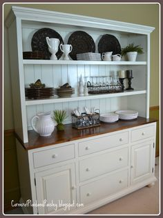 Country Farmhouse French Provincial Buffet AND Hutch Sideboard ...