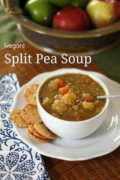 Vegan Split Pea Soup is delicious. It's really easy to make, and you'll never miss the ham found in typical split pea soup.