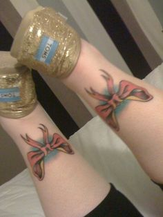 <3 my girly bow tattoos <3
