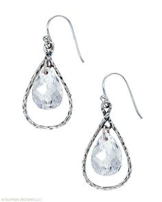 These Earrings shine brighter than the harbor lights. Cubic Zirconia, Sterling Silver.