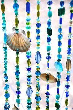 Door beaded curtains Door beads with sea shells Seashells