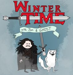 Two of my favorite things collide: Adventure Time and Game of Thrones.