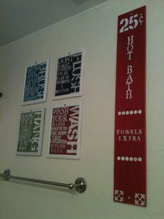 Bathroom decor love it for the kids bathroom!