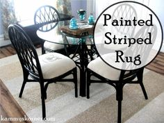 Dining Chair Makeover, Kitchen Table Makeover, Furniture Makeover, Black Rattan Chair, Black Chairs, Black Dining Set, Dining Sets, Dining Tables, Wooden Dining Room Chairs