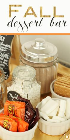 Fall Dessert Bar | S'mores Bar | Entertaining Idea | DIY | Fall Favorites | Fall Food www.styleyoursenses.com