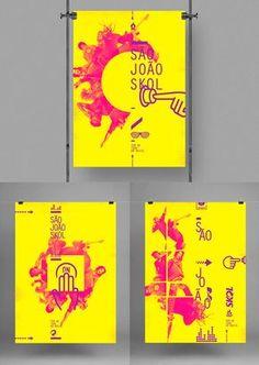 SKOL • são joão - fuku Web Design, Flyer Design, Design Art, Print Design, Logo Design, Graphic Design Posters, Graphic Design Typography, Graphic Design Inspiration, Design Editorial