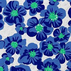 Imagen de flowers, blue, and pattern