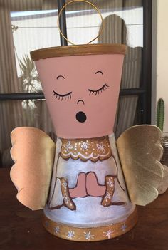 Celestial Flower Pot People, Clay Pot People, Clay Flower Pots, Clay Pots, Clay Pot Crafts, Diy Clay, Painted Plant Pots, Diy Bird Bath, Summer Crafts For Kids