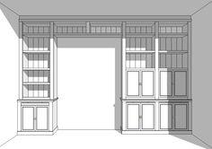Maatwerk boekenkast rondom kamer en suite deuren